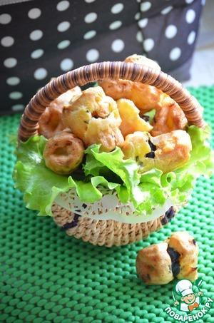 Рецепт Грибная закуска в заварном тесте