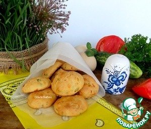 """Рецепт """"Ленивые"""" булочки с яйцом и зеленью"""