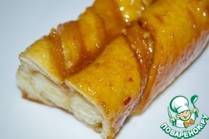 Рецепт Косички с орешками в карамельно-медовом соусе