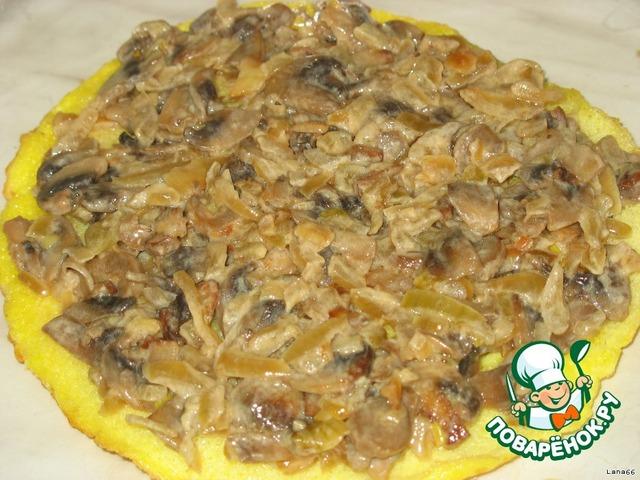Как готовить вкусный рецепт с фото Омлетный торт с грибами #7