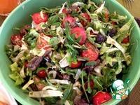 Теплый салат с рукколой, телятиной и помидорами черри ингредиенты