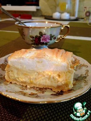 Рецепт Лимонный пирог с безе