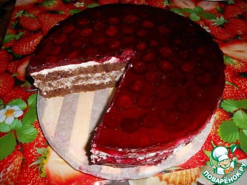 """Торт """"Вишенка в заливке"""""""