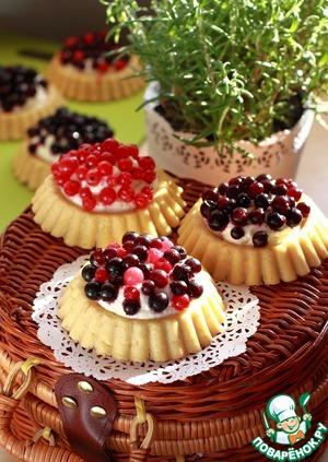 Рецепт Корзиночки с ягодами и нежным кремом