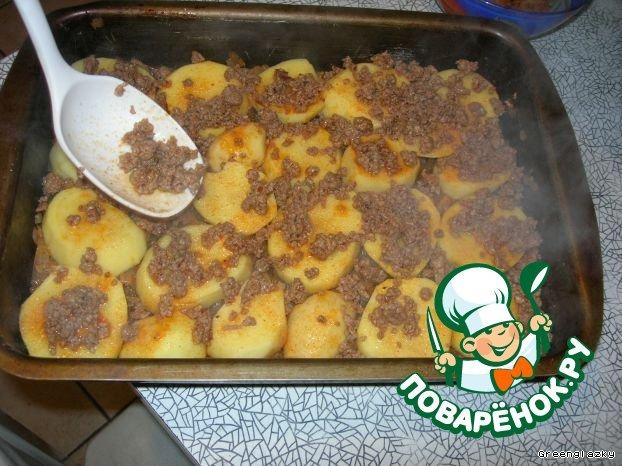 Картофельная запеканка с фаршем рецепт с фотографиями пошагово как готовить #5