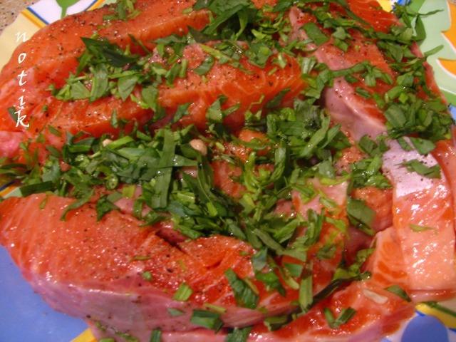 Готовим Лосось с картофелем под сливочно-горчичным соусом рецепт приготовления с фото пошагово #1