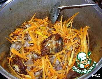 Готовим Ферганский вариант узбекского плова вкусный рецепт приготовления с фотографиями пошагово #4