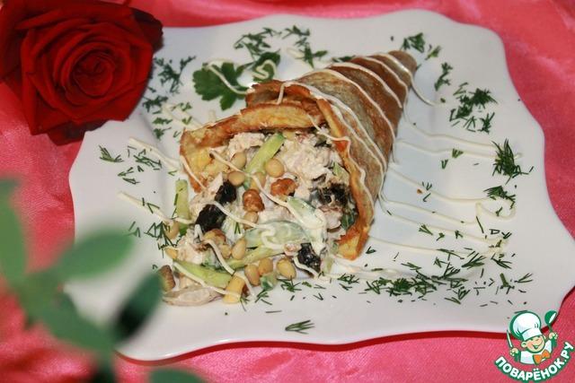 Салат рог изобилия рецепт с фото пошагово