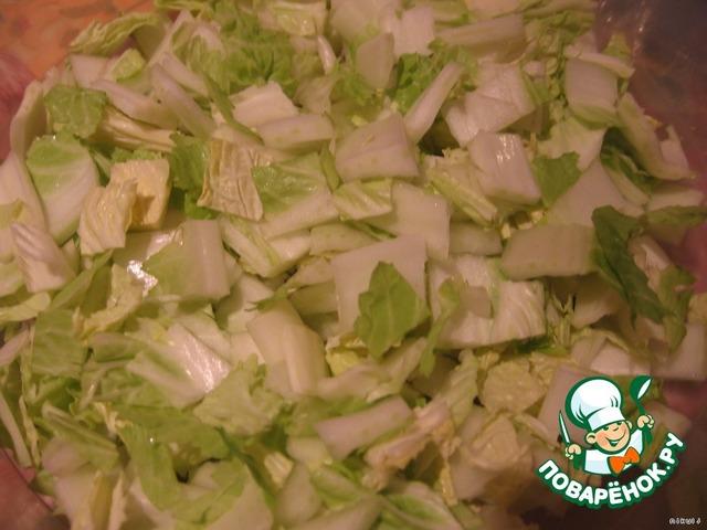 Вкусный праздничный салат рецепт пекинская капуста