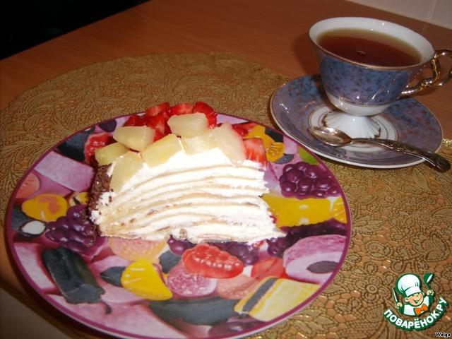 блинный торт рецепт с фото пошагово в домашних условиях несладкий видео