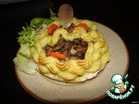 Картофельные корзинки с грибами ингредиенты