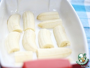 Рецепт Творожник с белым шоколадом и бананом