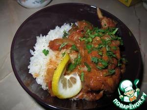Рецепт Кролик в винно-сливочном соусе