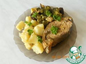 Рецепт Горбуша с овощами в пароварке
