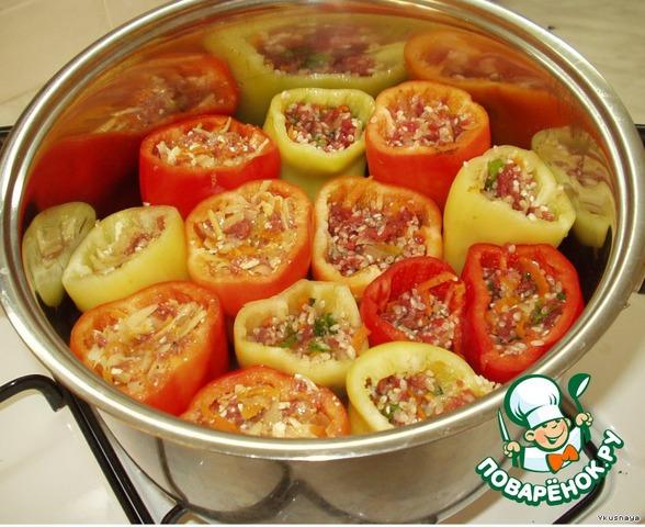 Фаршированные перцы в кастрюле пошаговый рецепт с фото
