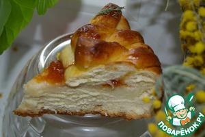 Рецепт Пирог со сливочным сыром и вареньем