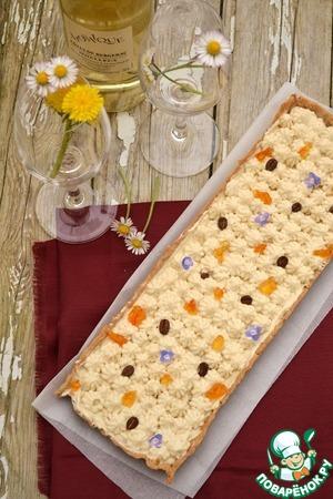 Рецепт Тарт с кофейным муссом из белого шоколада и апельсиновым джемом
