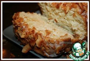 Рецепт Кокосовый кекс на кефире