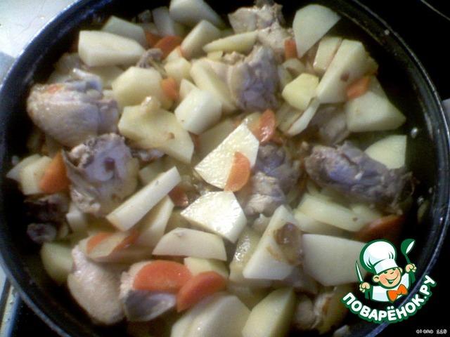 Как приготовить вкусный рецепт с фото Рагу из курицы и овощей #5