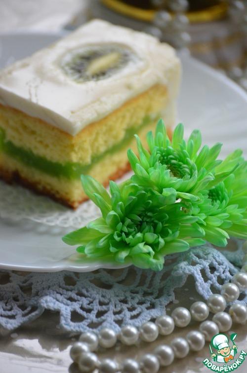Пирожное с киви