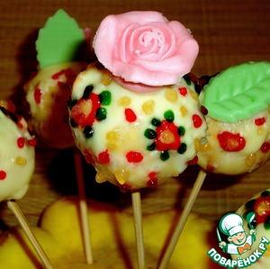Рецепт Пасхальные пирожные на шпажках