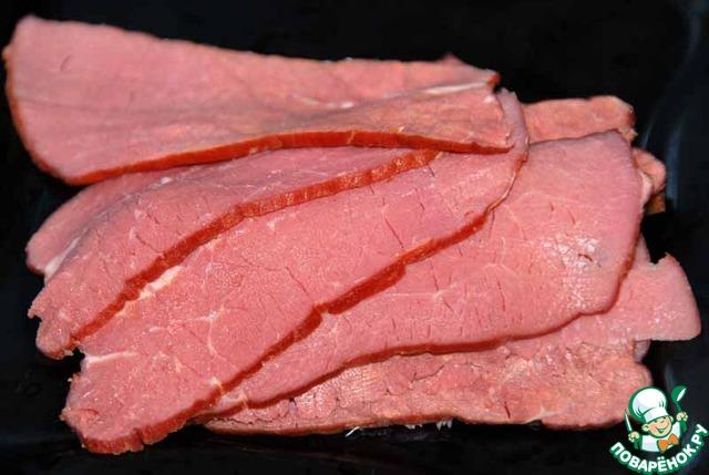 Салат с говядиной и рукколой рецепт