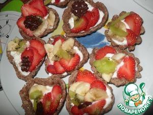Рецепт Песочные корзиночки с фруктами