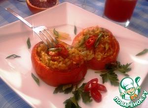 """Рецепт Запеченные помидоры с кокосовым рисом, чили перцем и имбирем """"Постимся со вкусом"""""""