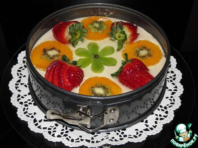 Чизкейк с желе с фруктами рецепт