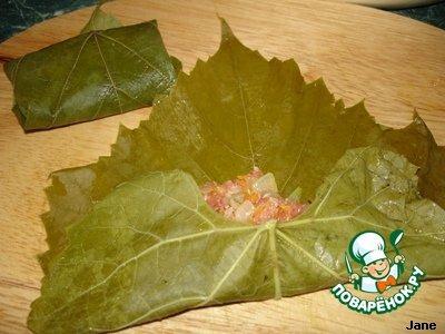 Рецепт с фотографиями Мясо в виноградных листьях #9