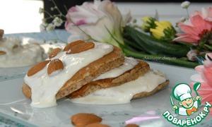 Рецепт Миндальные оладушки под нежным крем-соусом