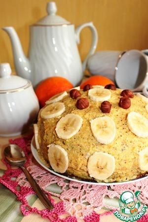 Рецепт Апельсиновый торт с орехами и бананом (постный)