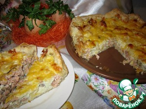 Рецепт Рыбный пирог из слоеного теста