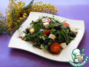Рецепт Весенний салат с руколой и фетой