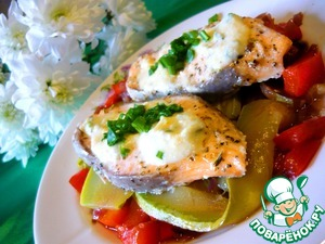 Рецепт Запеченая рыба с ореховым соусом
