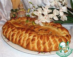Рецепт Постный пирог с яблоками и грецкими орехами