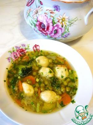 Рецепт Легкий весенний супчик с картофельными клецками и щавлем