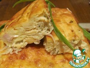 Рецепт Пирог с курицей, сыром и капустой
