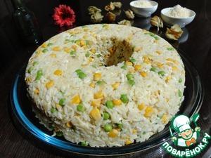 Рецепт Рис с курицей, горошком и кукурузой
