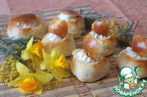 Рецепт Масленичные эстонские булочки со сливками