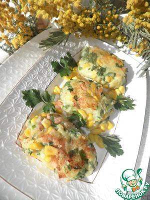 Рецепт Котлеты из креветок и кукурузы