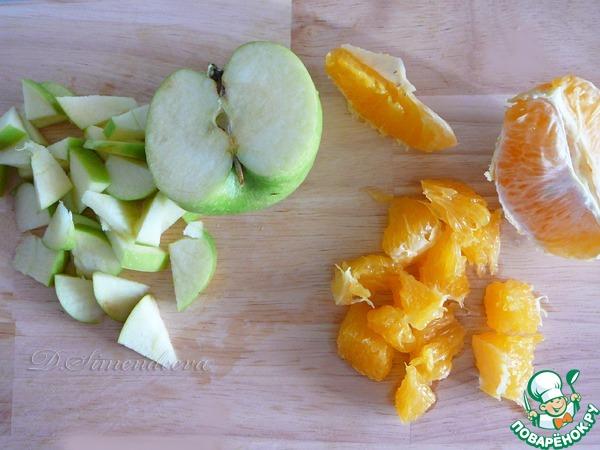 Салат из яблок яиц апельсина