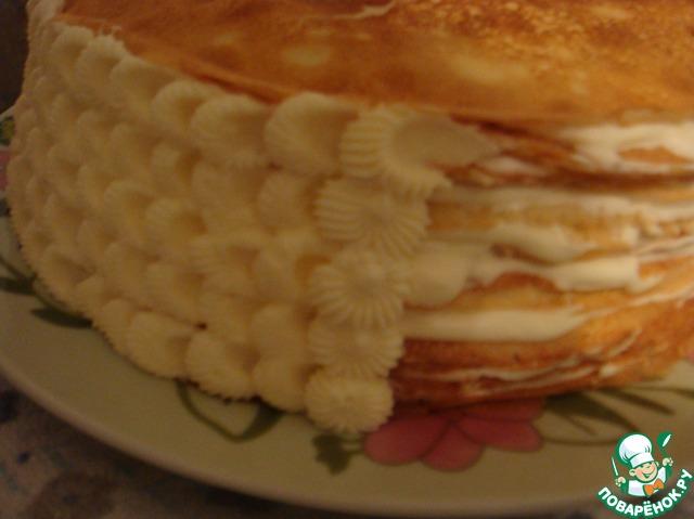 блинный торт с сметанным кремом рецепт с фото