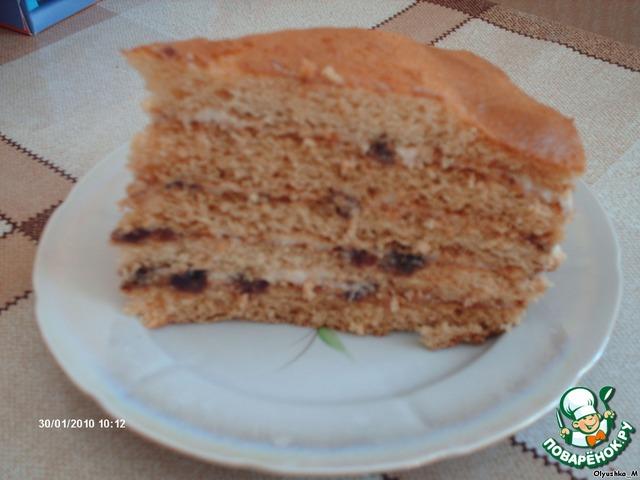 торт медовый воздушный рецепт с фото