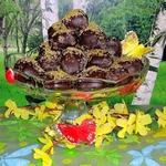 """Конфеты """"Шоколадные абрикосы с марципаном"""""""