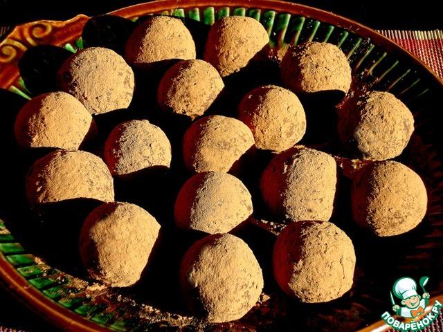 сладкие трюфеля с орехом рецепт с фото