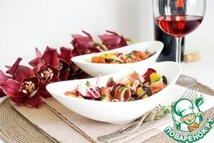 Рецепт Яркий салат в испанском стиле