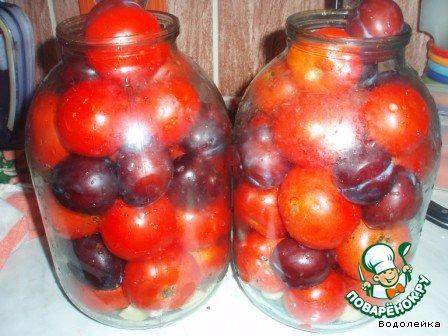 Заготовки из помидор и сливы