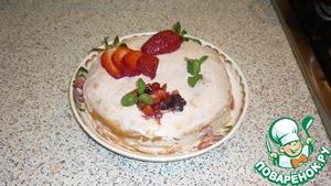 Рецепт Блинный торт с кремом и ягодно-фруктовой начинкой