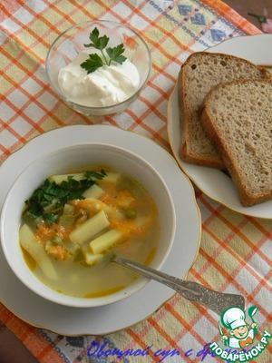 Рецепт Суп овощной с брынзой